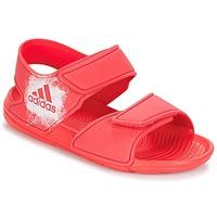 鞋子 女孩 涼鞋 adidas Performance 阿迪達斯運動訓練 ALTASWIM C 玫瑰色