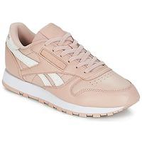 鞋子 女士 球鞋基本款 Reebok Classic CLASSIC LEATHER 玫瑰色 / 白色