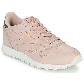 鞋子 女孩 球鞋基本款 Reebok Classic CLASSIC LEATHER J 玫瑰色
