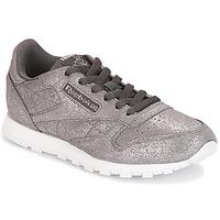 鞋子 女孩 球鞋基本款 Reebok Classic CLASSIC LEATHER J 灰色 / Métallique