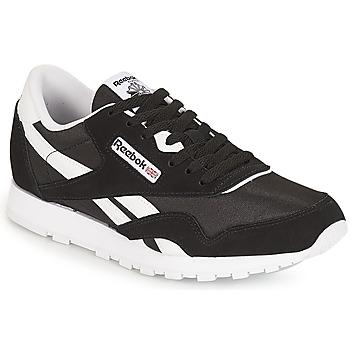 鞋子 儿童 球鞋基本款 Reebok Classic CLASSIC NYLON J 黑色 / 白色