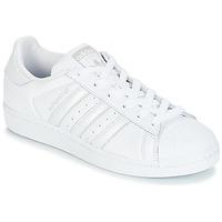 鞋子 女士 球鞋基本款 Adidas Originals 阿迪达斯三叶草 SUPERSTAR W 白色 / 银灰色