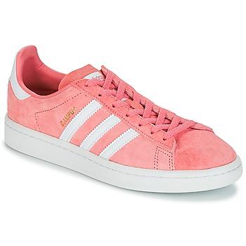 鞋子 女士 球鞋基本款 Adidas Originals 阿迪達斯三葉草 CAMPUS W 玫瑰色
