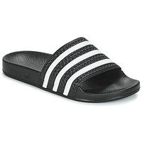 鞋子 拖鞋 Adidas Originals 阿迪达斯三叶草 ADILETTE 黑色 / 白色