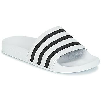 鞋子 拖鞋 Adidas Originals 阿迪达斯三叶草 ADILETTE 白色 / 黑色