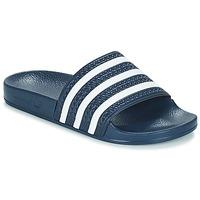 鞋子 拖鞋 Adidas Originals 阿迪达斯三叶草 ADILETTE 海蓝色 / 白色