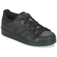 鞋子 儿童 球鞋基本款 Adidas Originals 阿迪达斯三叶草 SUPERSTAR C 黑色
