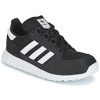 鞋子 儿童 球鞋基本款 Adidas Originals 阿迪达斯三叶草 OREGON C 黑色