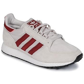 鞋子 球鞋基本款 Adidas Originals 阿迪达斯三叶草 OREGON 米色 / 红色