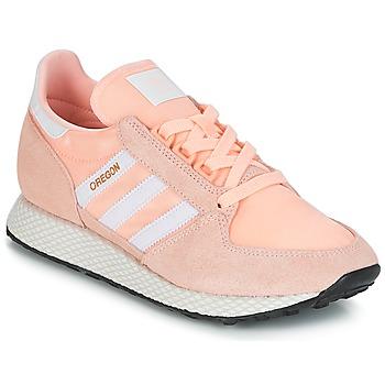鞋子 女士 球鞋基本款 Adidas Originals 阿迪达斯三叶草 OREGON W 玫瑰色