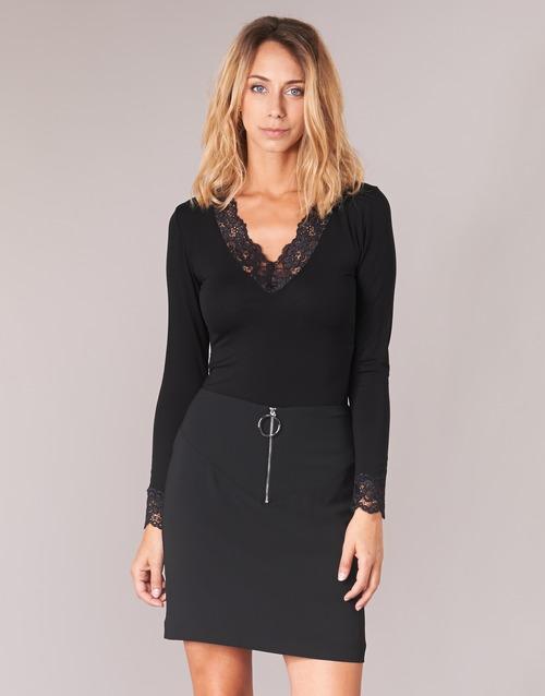 衣服 女士 长袖T恤 Morgan TRACY 黑色