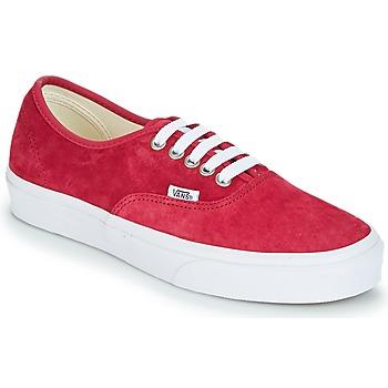 鞋子 女士 球鞋基本款 Vans 范斯 AUTHENTIC 红色