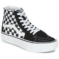鞋子 女士 高帮鞋 Vans 范斯 SK8-HI PLATFORM 2.1 黑色 / 白色