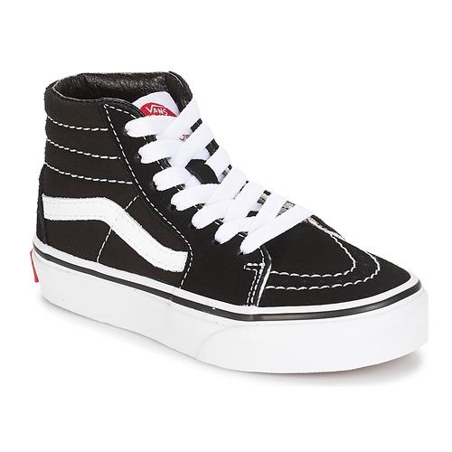 鞋子 儿童 球鞋基本款 Vans 范斯 UY SK8-HI 黑色 / 白色