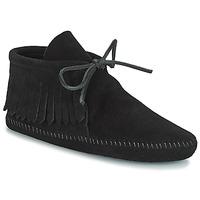 鞋子 女士 短筒靴 Minnetonka CLASSIC FRINGE 黑色