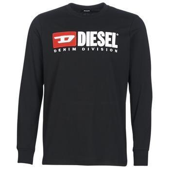 衣服 男士 长袖T恤 Diesel 迪赛尔 T JUST LS DIVISION 黑色