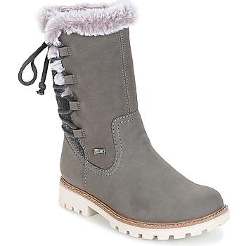 鞋子 女士 都市靴 Rieker 瑞克尔  灰色