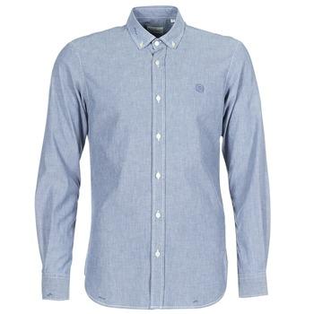 衣服 男士 長袖襯衫 Serge Blanco 15 DOS 藍色