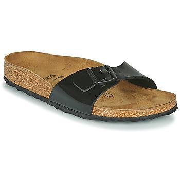 鞋子 女士 休闲凉拖/沙滩鞋 Birkenstock 勃肯 MADRID 黑色 / 漆皮