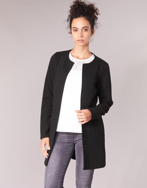 衣服 女士 外套/薄款西服 Vila VINAJA LONG 黑色