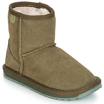 鞋子 女孩 短筒靴 EMU WALLABY MINI 卡其色