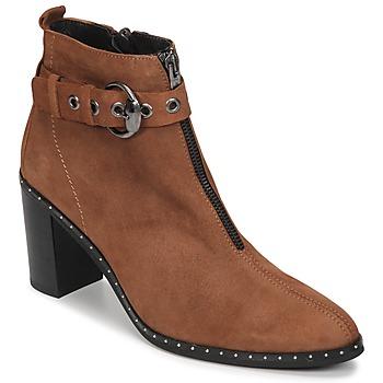 鞋子 女士 短靴 Philippe Morvan AXEL V4 CHEV VEL 驼色