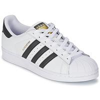 鞋子 球鞋基本款 阿迪达斯三叶草 SUPERSTAR 白色 / 黑色
