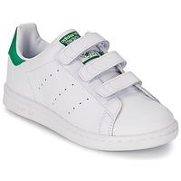 鞋子 儿童 球鞋基本款 Adidas Originals 阿迪达斯三叶草 STAN SMITH CF C 白色 / 绿色