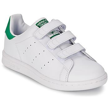 鞋子 男孩 球鞋基本款 阿迪达斯三叶草 STAN SMITH CF C 白色 / 绿色