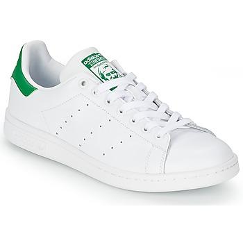 鞋子 球鞋基本款 阿迪达斯三叶草 STAN SMITH 白色 / 绿色