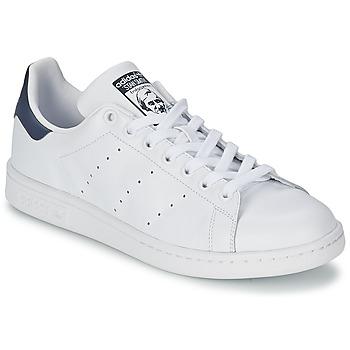 鞋子 球鞋基本款 阿迪达斯三叶草 STAN SMITH 白色 / 蓝色