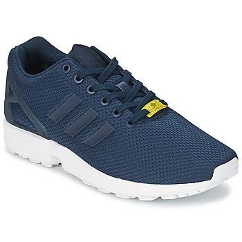 鞋子 男士 球鞋基本款 阿迪达斯三叶草 ZX FLUX 蓝色 / 白色