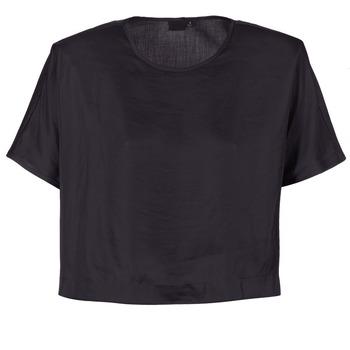 衣服 女士 女士上衣/罩衫 G-Star Raw COLLYDE WOVEN TEE 黑色