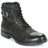 鞋子 男士 短筒靴 Jack & Jones 杰克琼斯 ALBANY LEATHER 黑色