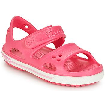 鞋子 女孩 凉鞋 crocs 卡骆驰 CROCBAND II SANDAL PS 玫瑰色