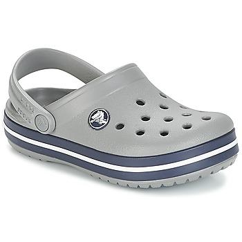 鞋子 儿童 洞洞鞋/圆头拖鞋 crocs 卡骆驰 CROCBAND CLOG K 灰色 / 海蓝色