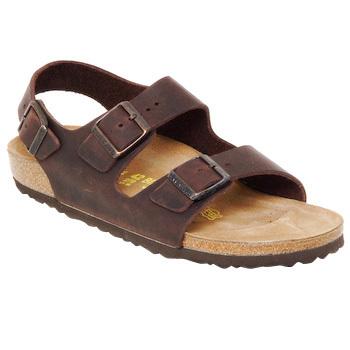 鞋子 男士 凉鞋 Birkenstock 勃肯 MILANO 棕色