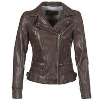 衣服 女士 皮夹克/ 人造皮革夹克 Oakwood VIDEO 棕色