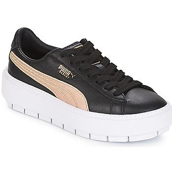 鞋子 女士 球鞋基本款 Puma 彪马 WN PLATFORM TRACE BSQT.BLK 黑色