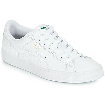 鞋子 球鞋基本款 Puma 彪马 BASKET CLASSIC LFS.WHT 白色