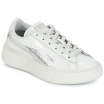 鞋子 女孩 球鞋基本款 Puma 彪马 G PS B PLATFORM BLING.GRAY 灰色