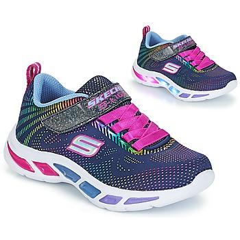 鞋子 女孩 球鞋基本款 Skechers 斯凯奇 LITEBEAMS 海军蓝
