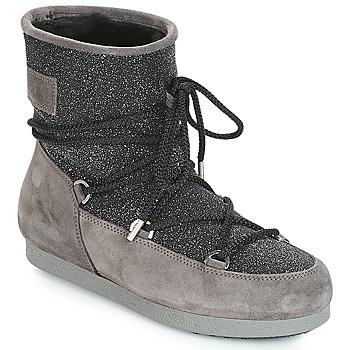 鞋子 女士 雪地靴 Moon Boot FAR SIDE LOW SUEDE GLITTER 黑色 / 灰色