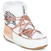 鞋子 女士 雪地靴 Moon Boot PEACE & LOVE WP 白色 / 玫瑰色 / 金色