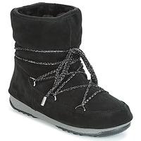 鞋子 女士 雪地靴 Moon Boot LOW SUEDE WP 黑色