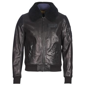 衣服 男士 皮夹克/ 人造皮革夹克 Redskins COMMANDER STRIKING 黑色