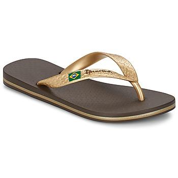 鞋子 女士 人字拖 Ipanema 依帕内玛 CLASSICA BRASIL II 棕色 / 金色