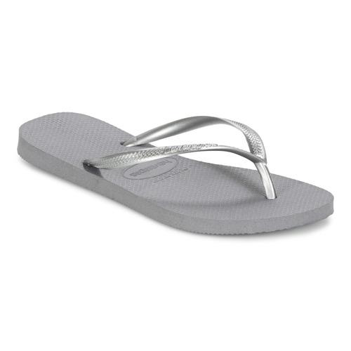 鞋子 女士 人字拖 Havaianas 哈瓦那 SLIM 灰色