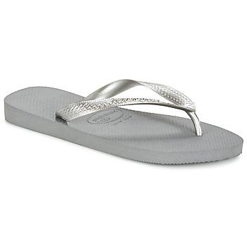 鞋子 女士 人字拖 Havaianas 哈瓦那 TOP METALLIC 灰色