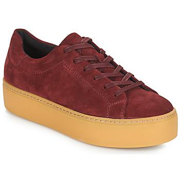 鞋子 女士 球鞋基本款 Vagabond JESSIE 波尔多红